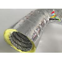 High Temperature HVAC 14 Inch Flex Heating Duct Insulation Wrap Single Layer Aluminum Foil