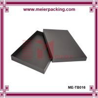 Fashion black gift box with lid, garment paper packaging gift box ME-TB016 Manufactures