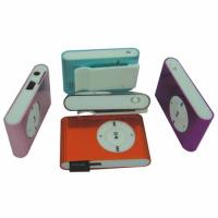 USB Rechargeable Mini Clip Mp3 Player with Built - in Loudspeaker BT-P032 Manufactures