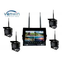 2.4G 4CH Car Video Wireless DVR system 7 Inch Monitor With 128GB SD Card Manufactures