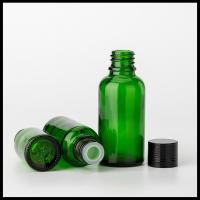 Olive Essential Oil Glass Bottles Green Round Tamper Proof Screw Cap TUV Approval Manufactures