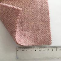 Yarn Dyed Pattern Herringbone Weave Fabric / Medium Weight Wool Fabric Manufactures