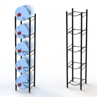 China Hot Sale 5 Tier Metal Tubular 5 Gallon Water Bottle Display Stand Bottle Holder for 5 Gallon Water on sale
