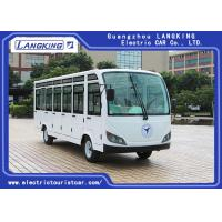 Four Wheels Electric Shuttle Bus 23 Seats With Door / Electric Mini Bus AC Motor Manufactures