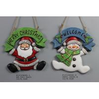Ceramic Christmas Snowman Pendant Gift With Merry Christmas And Welcome Wording Manufactures
