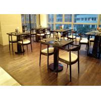 4 Star 5 Star Wooden Modern Restaurant Tables , Antique Style Commercial Cafe Furniture Manufactures