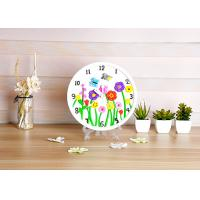 Flower Design Plaster Painting Arts And Crafts Toys With Real Clock Function Manufactures