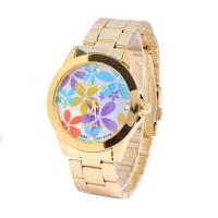 CE / RoHS Japan Movt Flower Pattern Women Wristwatches Analog Time Display Manufactures