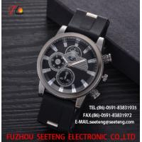wholesale Silicone watch  with alloycase and custom logo  Men