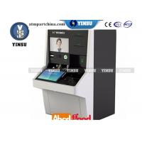 Floor Standing Video Teller Machine / Bank ATM Machine Metal And Plastic Material Manufactures