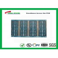 Multilayer Quick Turn PCB Prototypes 4 layer FR4 1.2mm Blue Solder Mask Panel Size 160*80mm Manufactures