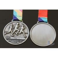 Buy cheap Half Marathon Or 10K Running Custom Sports Medals Antique Silver Plating from wholesalers