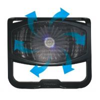 Foldable 14 inch Notebook Cooling Pad / Black Plastic Laptop Cooler with Single Fan Manufactures