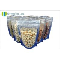 Transparent Food Plain Stand Up Pouches Heat Sealable PE Resealable Manufactures