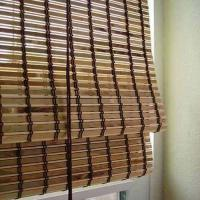 China Customized Outdoor Pvc Blinds , Pvc Bamboo Shades Natural Dyed Color on sale