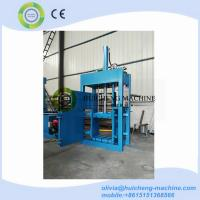 hydraulic vertical four door opening used clothing cotton textile baling compactor machine Manufactures