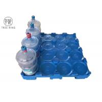 Single Faced 16 Bottles Poly Pallets Stackable Balance 5 Gallon Water Bottles For Supermarket Manufactures