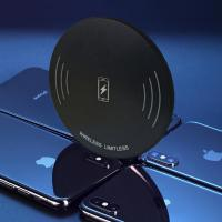 hot sale 10w fast qi ultra-thin charging pad wireless phone charger Manufactures
