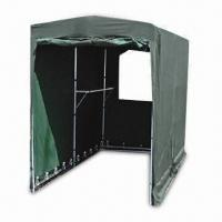 Motorcycle Tent with Power-coated Steel Tubes and Window in Front/Back Door, Measures 5 x 10ft Manufactures