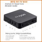 MXQ R9 4K Android TV Box RK3229 Quad Core UHD 4K 60fps Smart TV Box MXQ R9 Manufactures