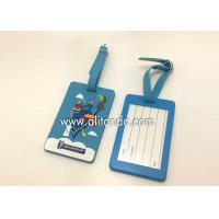 Blank pvc luggage tags custom logo image words numbers can be added Manufactures