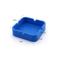 China Blue HESEN SGS Square Silicone Ashtray on sale