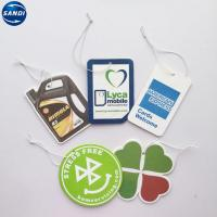 Buy cheap Car Air Freshener Hanging Promotional Advertising Gifts With Sealed Plastic Opp from wholesalers
