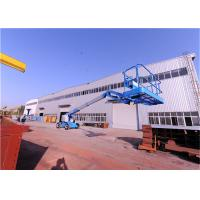 Solid Tires Straight Boom Manlift ,Indoor Boom Lift Full Time Positive Traction Drive Manufactures