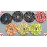 China 80mm100mm 125mm Wet Diamond Floor Polishing Pads   Multi Color Economical on sale