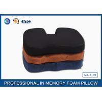Memory Foam Orthopedic Seat Cushion With 3D Mesh and Poly Velvet Fabric Manufactures