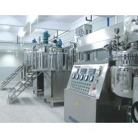 Vacuum Homogenizing Emulsifier Machine, Electric Heating 500L tilting Vacuum Emulsifier Manufactures