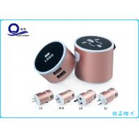 Lighting Logo USB Universal Travel Charger With Multi Functional Conversion Socket Manufactures