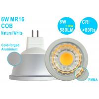 Quality China Ultra Bright G5.3 MR16 LED Ceiling Spot Light 6W COB 580LM CRI80 Natural for sale