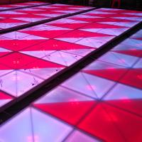 Stage LED Light Dance Floor 10mm 720 RGB Color 31CH Quickly Assembled / Disassemble Manufactures