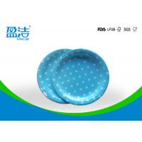 7 Inch Circle Type Disposable Paper Plates Design Printed With Four Colours Manufactures