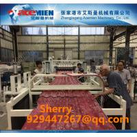 PVC plastic roofing tile extrusion making line plastic roof machine extruder line plastic recycling machine Manufactures