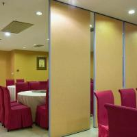 China Commercial Folding Partition Doors Melamine Board Movable Wall Partitions For Office on sale