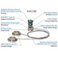 Buy cheap Yokogawa EJA118E Differential Pressure Transmitter With Remote Diaphragm Seals from wholesalers