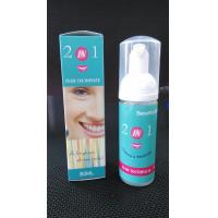 Quality 2 function in one teeth whitening foam toothpaste for sale