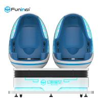 China Amusement Park 9D VR Cinema / Virtual Reality Game Interactive 9d Egg Chair 220V on sale