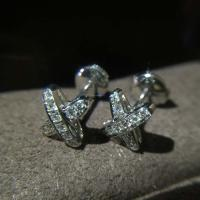 18K Luxury Brand Jewelry liens de premiers liens 18K gold with natural diamond earrings 080048 Manufactures