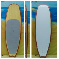 China 8ft5 Epoxy Stand up Paddle Boards High Quality PVC SUP Paddle Boards Bamboo SUP on sale