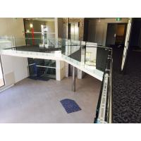 Modern design glass railing with stainless steel standoff  for veranda Manufactures