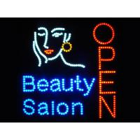 530x450mm customised logo colorful led OPEN sign for store Manufactures