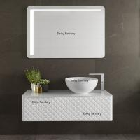 Hanging Wall Type White PVC Bathroom Vanity Modern Style Luxury Design Manufactures