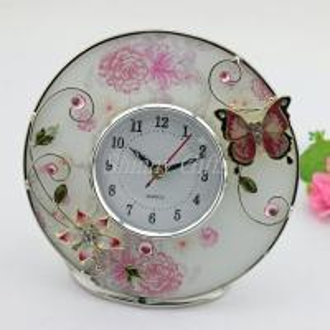 Shinny Gifts Home Decorative Round Shape Desk Clock