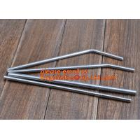 Diameter 6 mm 215 mm long stainless steel straw in bulk package,Stainless Steel Drinking Straws with Premium Aluminum Ca Manufactures