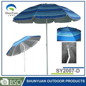 China 2M light patio custom print beach sun umbrella on sale