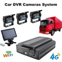 China 4Ch Hard Drive Car Dvr Recorder System With 3G / 4G / GPS / WIFI / G-Sensor on sale
