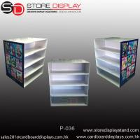 Four shelves corrugated display PDQ pallet display stand Manufactures